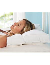 Snugglemore - Orthopedic Pillow Support Head Neck Microfibre Contour Firm Hollowfibre Pillows (2 x Pillow)