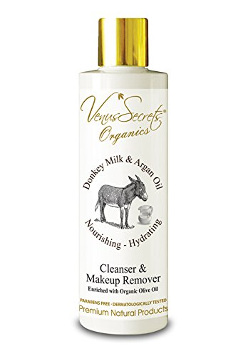 Make Up Remover Facial Cleanser Eriched With Donkey Milk & Olive Oil - 250ml - Natural Gentle Wash for Eyes Lips & Waterproof Mascara - For All Skin Types