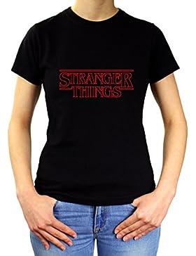 PLANETACAMISETA Camiseta Mujer Stranger Things