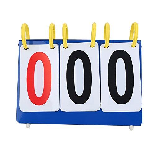 Dilwe Tabellone segnapunti, PVC Impermeabile 3 cifre a 4 cifre del punteggio da Tavolo per pallavolo Basket Set da Ping Pong(3 cifre)
