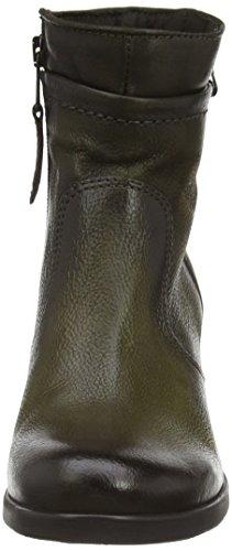 Mjus 613201-0201-6002 Damen Halbschaft Stiefel Grün (Muschio+Muschio+Bronzo)
