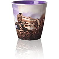 Chocolate Train Land - Foodscape by Carl Warner - Fluted Melamine Beaker - 9cm /4