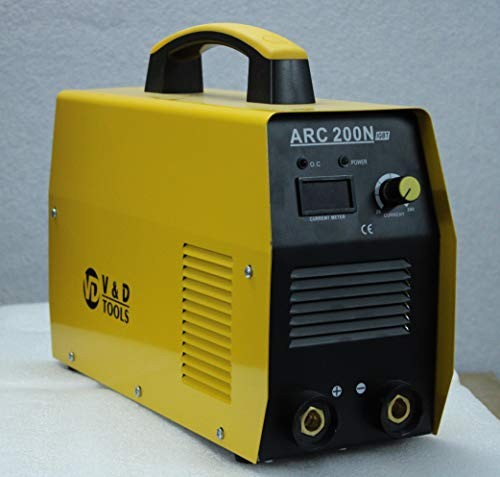 V&D Tools Inverter Welding Machine Arc 200 Amps With All Accessories (Yellow)