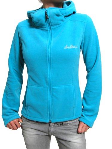 Iriedaily Sweat-shirt zippée à capuche polaire pour homme KISHORI Bleu - hawaii blue