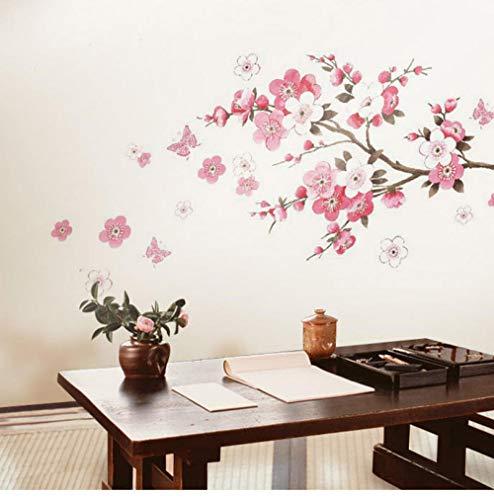 Schmetterling Fliegen Dekoration Tee Restaurant Kreative Wohnzimmer Schlafzimmer Blume Sofa Tv Hintergrund Fensterglas Wandaufkleber 60X90 cm -