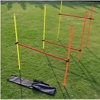 Vallas de SLALOM y SALTOS - Kit entrenamiento **OUTDOOR** - Especifico para EXTERIOR-- altura ajustable- COMPLETO