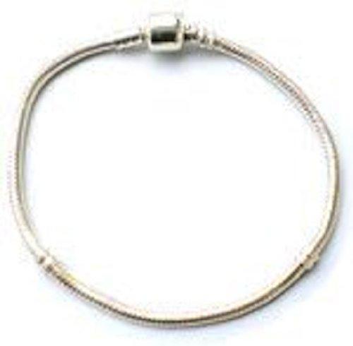 Believe Beads © 18 cm Silver plated charm Bracelet for pandora/chamilia/troll type charm beads.