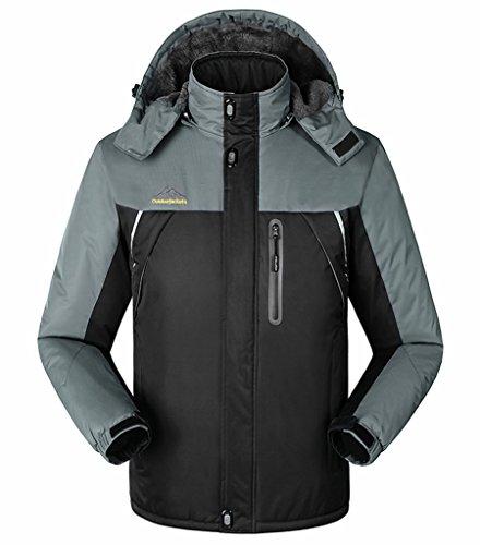 Herren Wasserdichter Outdoor-Mantel Winddichte Fleece Skijacke Kapuzenjacke