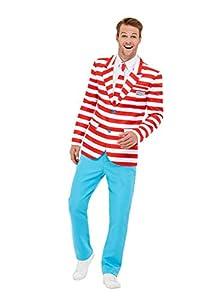 Smiffys 50268S - Traje de neopreno para hombre, talla S, color rojo y blanco