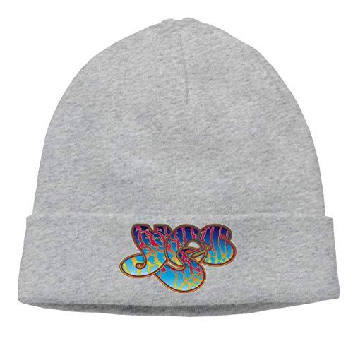 CHKWYN Yes Band Skull Hats Knitted Cap Beanie Black