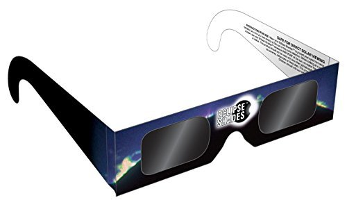 Price comparison product image Eclipse Glasses - CE Certified Safe Solar Eclipse Shades - Viewer and filters by Rainbow Symphony