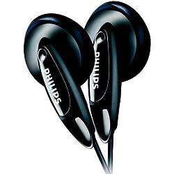 Philips SHE1360 - Auriculares de botón, color negro