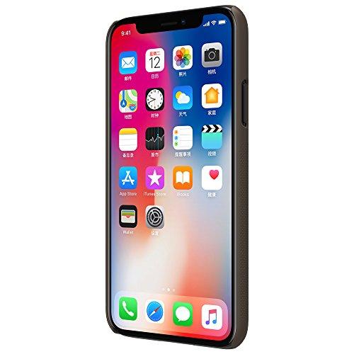 Meimeiwu Super-Frosted Tasche Qualitativ hochwertiges Back Cover Schutzhülle mit Displayschutz für iPhone X - Braun Braun