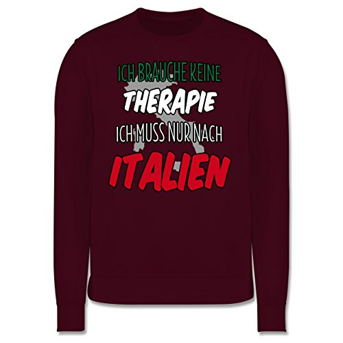 Länder - Ich brauche keine Therapie ich muss nur nach Italien - Herren Premium Pullover Burgundrot