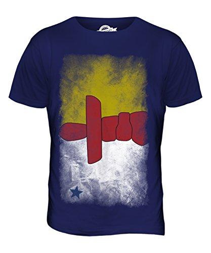CandyMix Nunavut Verblichen Flagge Herren T Shirt Navy Blau