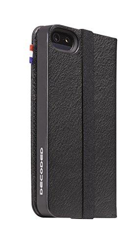 DECODED Wallet Case en Cuir pour iPhone SE Marron Noir