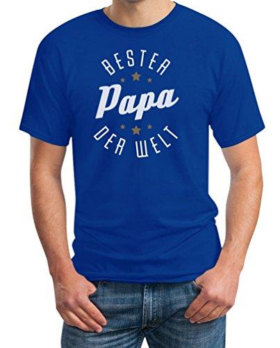 Bester Papa Der Welt - Vatertagsgeschenk und Vater Geburtstag T-Shirt Blau