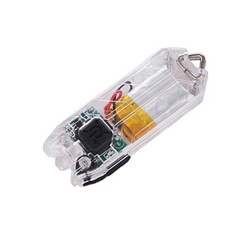 Bescita Neu 45LM 2 Modi Mini USB LED Taschenlampe nachladbare Schlüsselkette Licht Lampe (weiß)