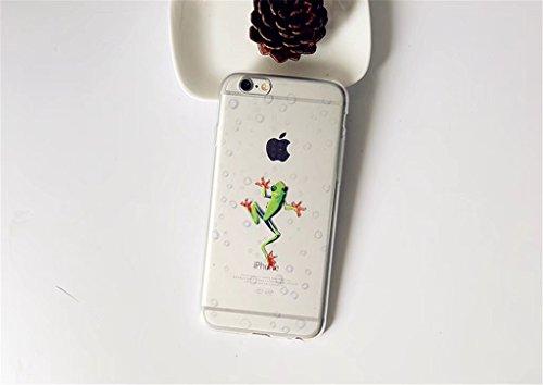 Cover iPhone 6/6S Case MUTOUREN Conchiglia Custodia TPU Silicone Case Caso Guscio Shell Flessible Bumper Ultra fina Posteriore Caso Protettiva Smartphone - modelli dipinti fragole creativo12