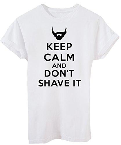 iMage T-Shirt Keep Calm Bleib Ruhig Und Schneide Deinen Bart Nicht - Street Baby-XS -Weiß