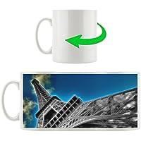 Torre Eiffel tazza motivi in ??bianco 300ml ceramica, grande idea regalo per ogni occasione. La tua nuova tazza preferita per caffè, tè e bevande calde.