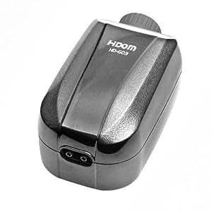 Hidom Pompe à air avec double sortie pour aquarium Silencieux Haute efficacité Multi vitesses réglables 4w 4 l/min