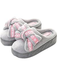 Auspicious beginning Las mujeres ocasionales plataforma de invierno pajarita zapatos cuñas zapatillas al aire libre