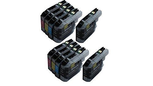 10 Druckerpatronen kompatibel für Brother LC-123 LC123 LC-127 LC-125 XL mit neustem Chip Update Update-chip