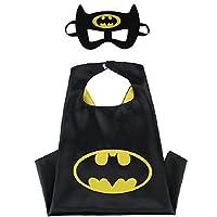 Blingbling Superhero CAPE & MASK SET Kids Childrens Halloween Costume Batman