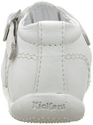 Kickers Bigfly, Sandales Bébé Fille Blanc (Blanc)
