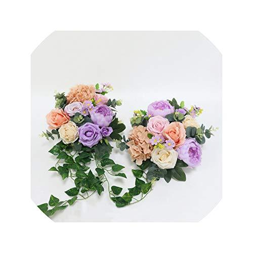 Lovtiful Artificial flower Künstliche Rosen-Blumen-Reihe kleine Ecke Blumen Simulation Silk Fake Flowers Hochzeit DIY-Dekor-Girlande-Dekor Blumen, B-Art 2Pcs (Fake Rote Bärte)