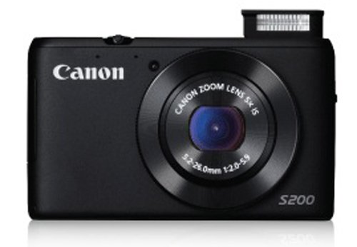 Canon Powershot S200 10.1 Mp Point And Shoot Digital Camera (black) 5x Optical Zoom, With Memory Card And Camera Case