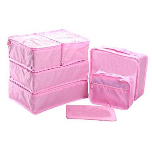 Ewparts Paquete de 7 paquetes de viaje organizadores conjunto, cubos d