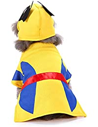 Gusspower Disfraz para Mascotas Capucha con Sombrero de Marvel Clásico/Marvel Universe Wolverine Abrigos Halloween Navidad