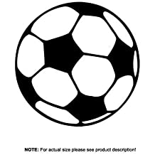 20 x Kids Footballs Soccer Bedroom Wall Door Sticker - Free Applicator & Instructions included by Total Trading UK