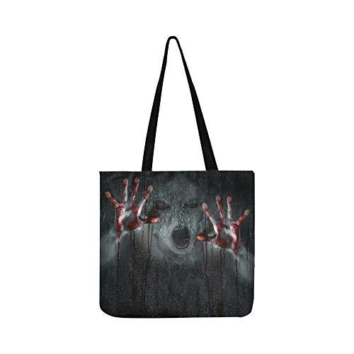 Dark Horror Scene Deformed Dämon Zombie SHAOKAO SHAOKAO Canvas Tote Handtasche Schultertasche Crossbody Taschen Geldbörsen für Männer und Frauen Einkaufstasche (Horror-geldbörse)