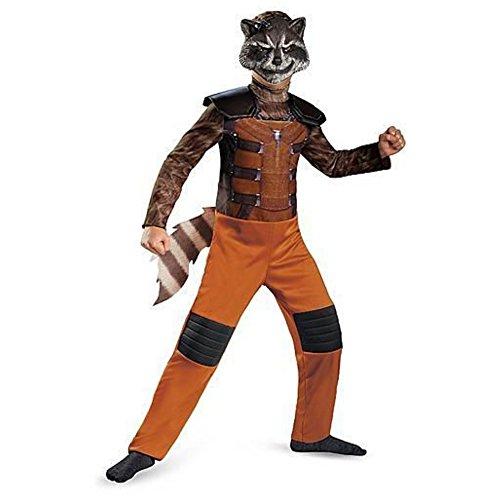 Guardians Galaxy Rocket Raccoon Jungen Kinder Fasching Karneval Kostüm Costume 122-128