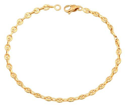 Orleo - REF1994BB : Bracelet Femme Or 18K jaune - Grains de Café