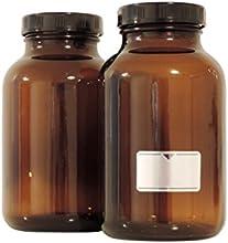 Viva-Haushaltswaren-25frascos 1000ml./5botellas vasos farmacia en marrón cristal, incluye etiquetas