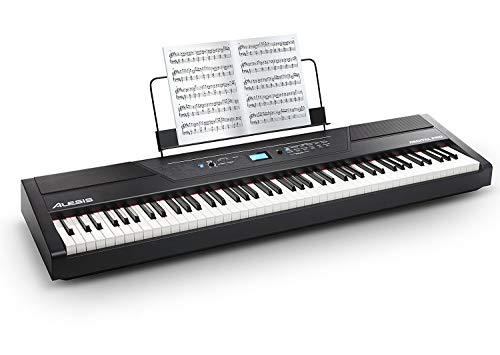 Alesis Recital PRO - Digital Piano / Keyboard mit 88 Hammer Action Keys, 12 Premium Klängen, 20 W Lautsprecher, Kopfhörerausgang und leistungsstarke Schulungsfunktionen (88 Keyboards Piano)