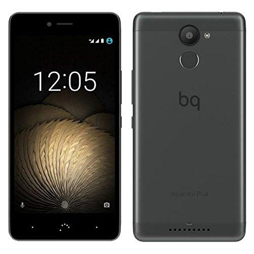 BQ Aquaris U Plus - Smartphone de 5'' (Bluetooth, Qualcomm Snapdragon 430 Octa Core, memoria de 16 GB, 2 GB RAM, cámara 16 MP, multitáctil,  Android 6.0.1 Marshmallow), blanco y dorado