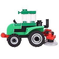 dryujdytru Professional City Engineering Truck Grain Pushing Car Bulldozer Model Building Block Bricks Brinquedos Intelligent Toy