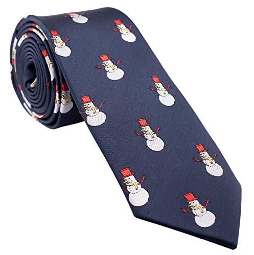Man of Men Herren Krawatte für Weihnachten, cooles Design, viele Farben zur Auswahl - Blau - Einheitsgröße Krawatte Cool