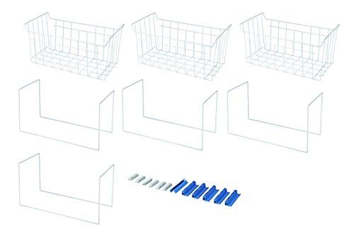 Whirlpool FLM400 Gefriergerätezubehör / 3 Gefrierkörbe für 390 L Truhen