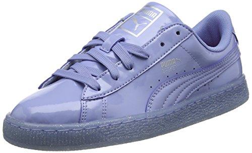 Puma Unisex-Kinder Basket Patent Iced Glitter Jr Low-Top, Blau (Lavendar Lustre-Lavendar Lustre 02), 37 EU - Glitter Patent Schuhe