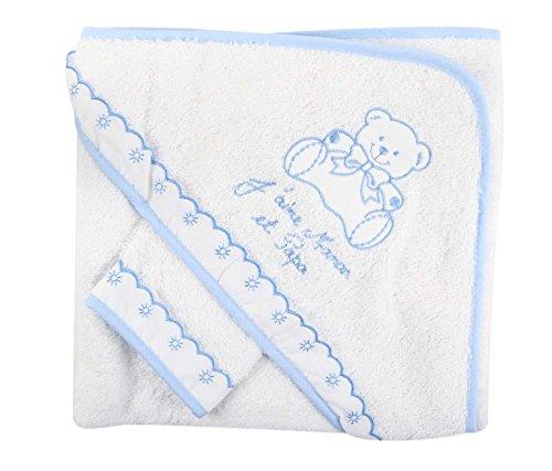 Asciugamano da bagno, baby Cape con set di guanti, idea regalo per nascita BCBEJPM NISSANOU