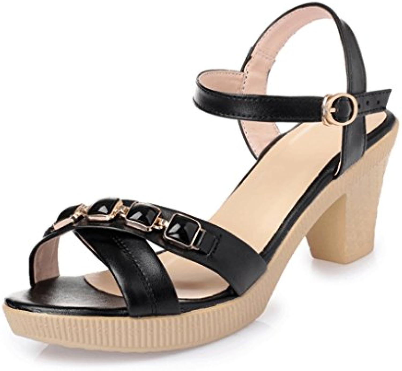 Sandalias de Mujer de Primavera y Verano Sandalias de Moda de Tacones Altos Gruesos
