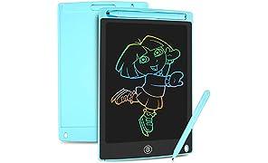HOMESTEC Tablette d'écriture LCD colorée, Planche à Dessin de 8,5 Pouces Tablette Graphique Serrure à clé Écriture Manuscrite Doodle Dessin Pad Enfants Jouets Cadeaux pour garçons Filles (Bleu)