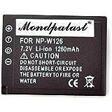 mondpalast@ Reemplazo batería Li-ion type NP-W126 NPW126 1260mah x 1 + cargador para Fujifilm XE-2 X-T1 XT1 X-E1 X-M1 X-Pro1 HS30 HS30EXR HS33EXR X-A2 X-T10