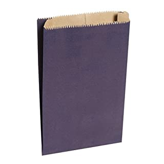 Blue paper bags, 6 x 2 x 8